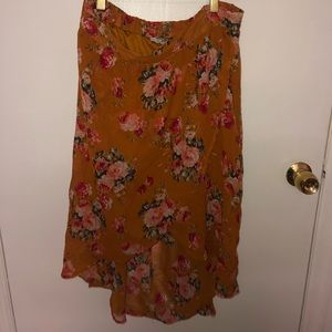 Charolette Russe L Skirt Mustard Yellow and Flower